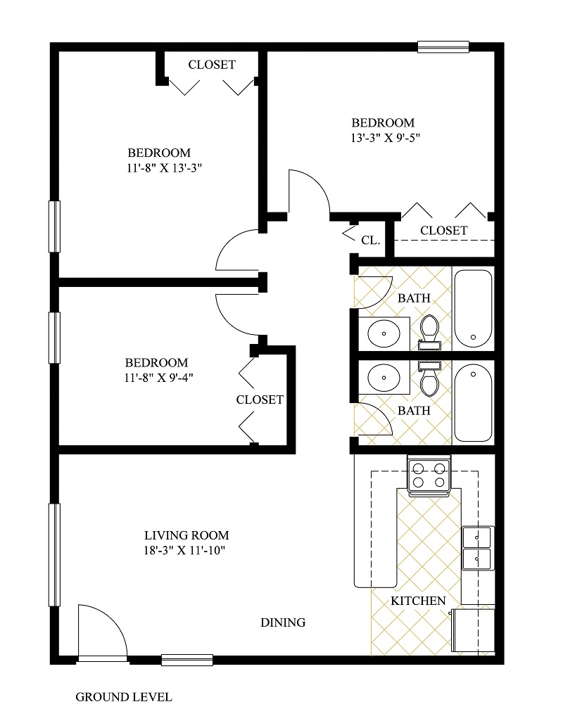 3br 2ba in the triplex the ideal apartments near uf for 3br 2ba floor plans
